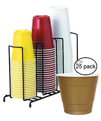 tigerchef taza y tapa de 3 organizador alambre accesorio de con de fiesta de plástico desechables