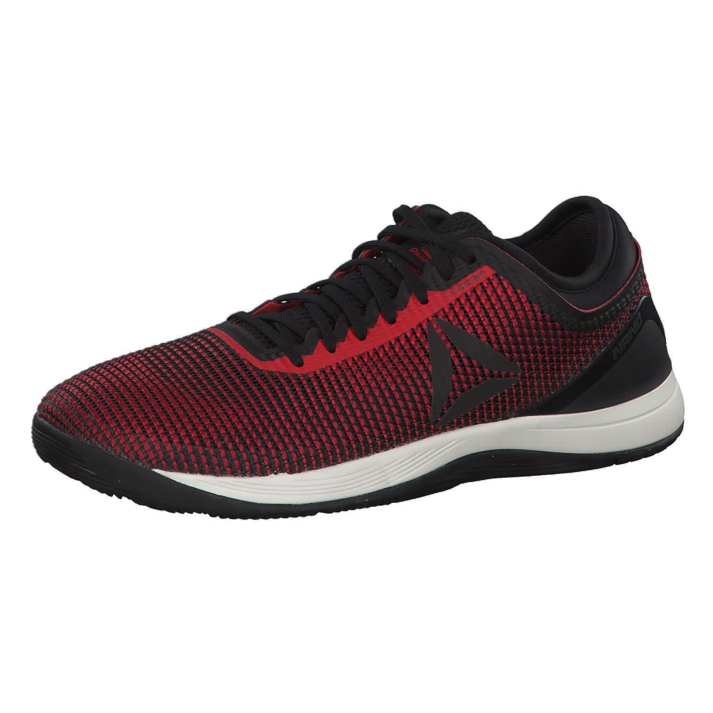 Reebok R Crossfit Nano 8.0, Zapatillas de Deporte para Hombre 40.5 EU|Negro (Black/Primal Red/Cranberry Red/Chalk 0)