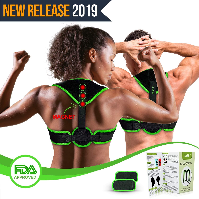 Clavicle Brace Neck Hump Corrector, Posture Corrector for Women & Men, Magnetic Upper Back Brace Slouch Posture Support, Upright Posture Trainer, Back Straightener, Best Scoliosis Primate Brace