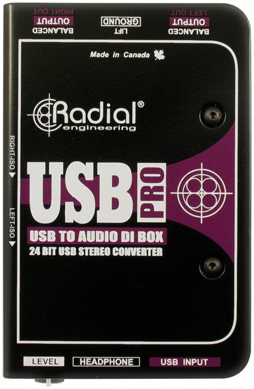 Radial USB-Pro Stereo USB Laptop DI R800 1050