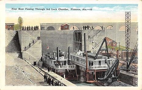 antique stores florence al Florence Alabama Boat Passing Through Lock Antique Postcard K95617  antique stores florence al