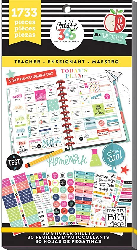MAMBI The Happy Planner Stamps Meal Planning Clear Set Food