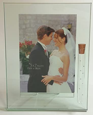 Amazoncom Bjcrystalgifts Jewish Wedding Picture Frame Holds
