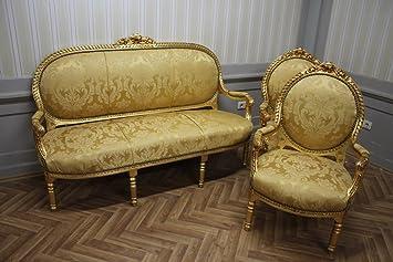 LouisXV Estilo Barroco Estilo Antiguo Salón 2 sillones 1 ...