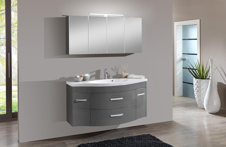 SAM® Design Badmöbel-Set Lugano 2tlg, in grau, 130 cm Breite ...