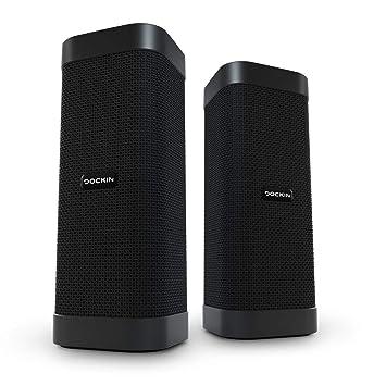 DOCKIN D Mate Altavoz Bluetooth Bundle con Powerbank, Sonido de 360°, 16 Horas de duración ...