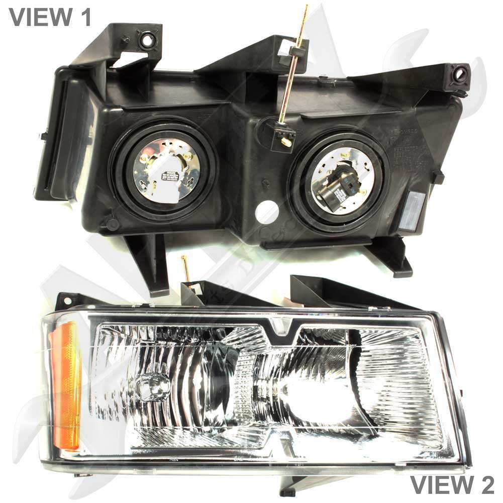 APDTY 10365774 Headlight Headlamp Assembly Fits Right Passenger Side Chrome Bezel Trim; Replaces GM 15911832 2004-2008 Chevrolet Colorado Extreme