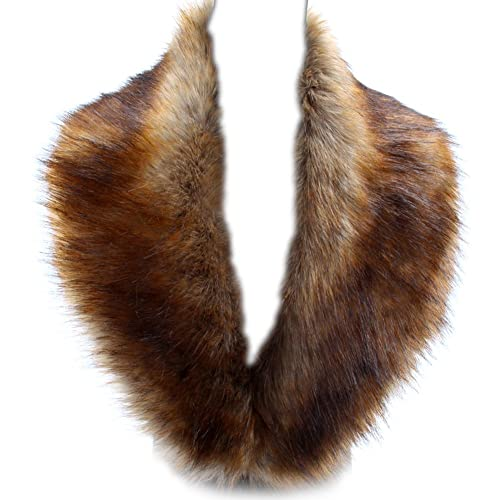 YANIBEST Large Detachable Long Faux Fur Collar for Winter Coat