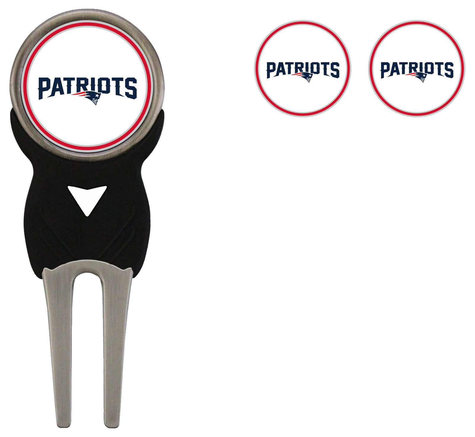 NFL New England Patriots Signature Divot Tool and 2 Extra Markers