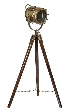 LightenUP Brass Tripod Lamp (Antique Colour) Table Lamps at amazon