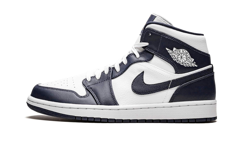 Nike Air Jordan 1 Mid, Zapatos de Baloncesto para Hombre, Negro ...