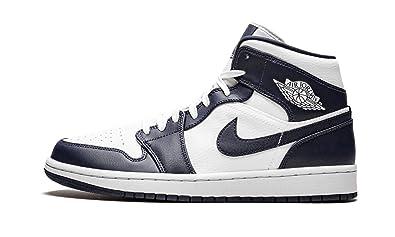 Nike Air Jordan 1 Mid, Scarpe da Basket Uomo, Bianco (White/Mtlc  Gold/Obsidian 174), 42.5 EU