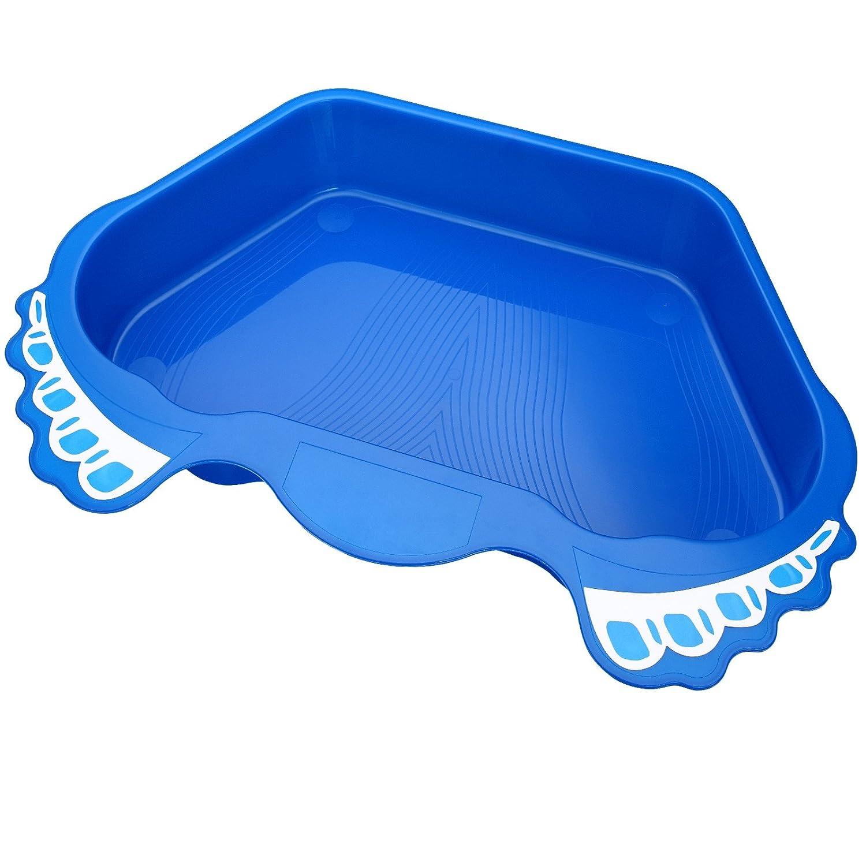 Deuba® Fußbad Fußwanne Pool Schwimmbecken Schwimmbadzubehör | Farbe: Blau | Anti-Rutsch Boden | reduziert deutlich den Schmutz im Pool | Kapazität: ca. 12 Liter