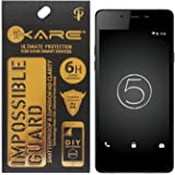 iKare Fiber Tempered Glass Screen Protector for Micromax Canvas 5 E481 (REUSABLE, ULTRA CLEAR, REAL SHOCK PROOF, UNBREAKABLE)