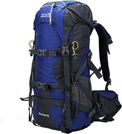 Hiking Backpack 50L Mountain Camping Trekking Daypack Gear with Rain Cover