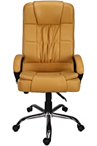 Green Soul Madrid High Back Leatherette Office Chair (Beige)