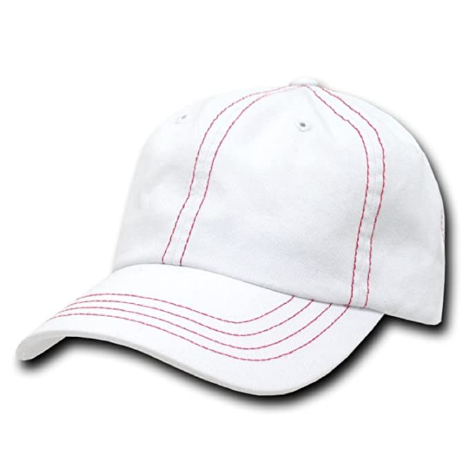 Image Unavailable. Image not available for. Color  DECKY Contra-Stitch  Washed Polo Caps (Adjustable  6f27b377d5e9