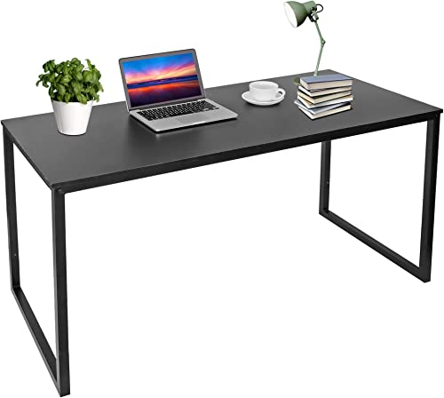 ZenStyle Computer Desk 55″ Large Office Desk Computer Table Laptop PC Simple Study Writing Desk