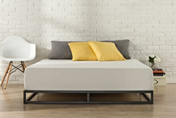 Zinus Cama de plataforma Joseph Modern Studio de 15,2 cm, Base para colchón, Sin necesidad de usar un somier, Sólido soporte de listones de madera, ...