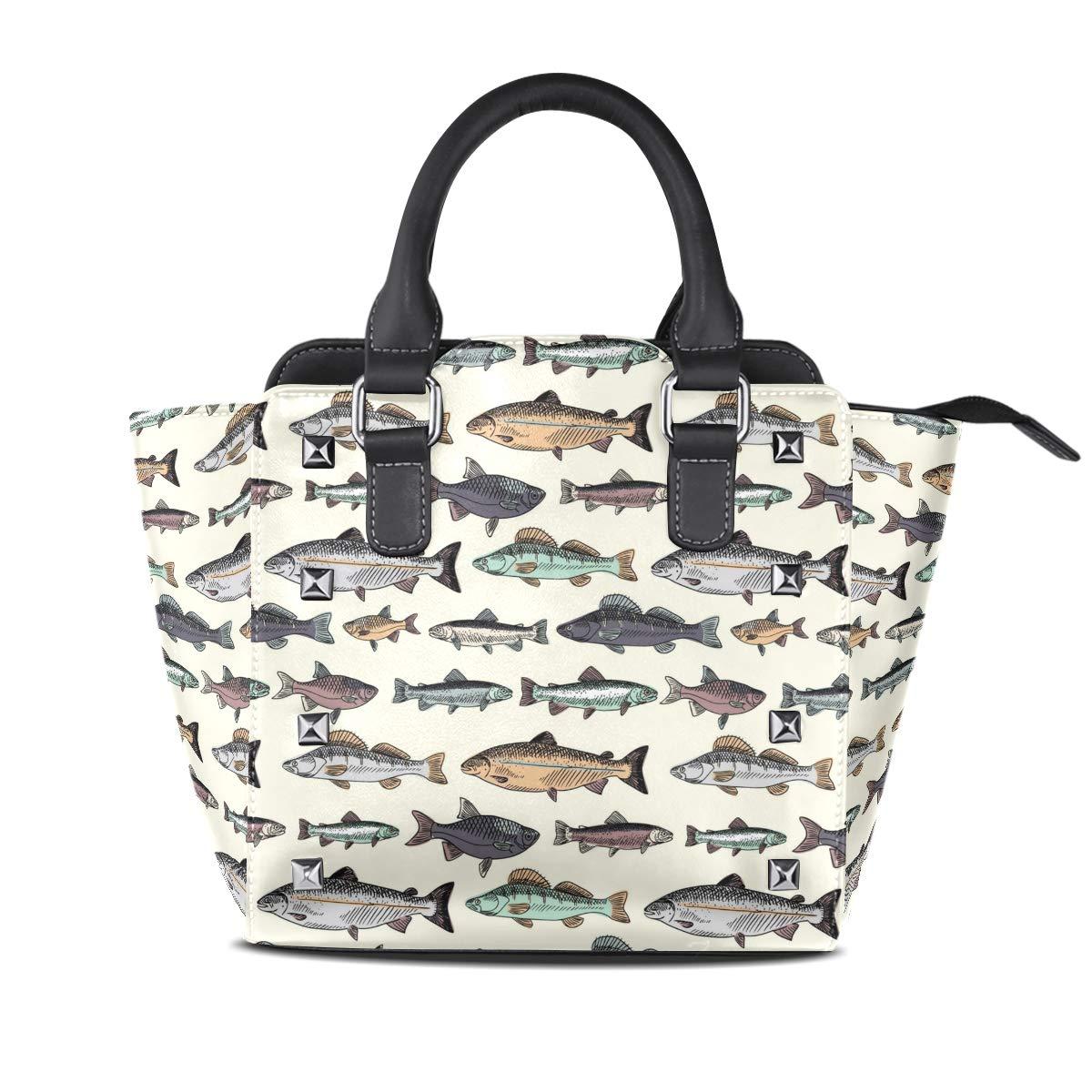 Design5 Handbag Red White Dot Genuine Leather Tote Rivet Bag Shoulder Strap Top Handle Women