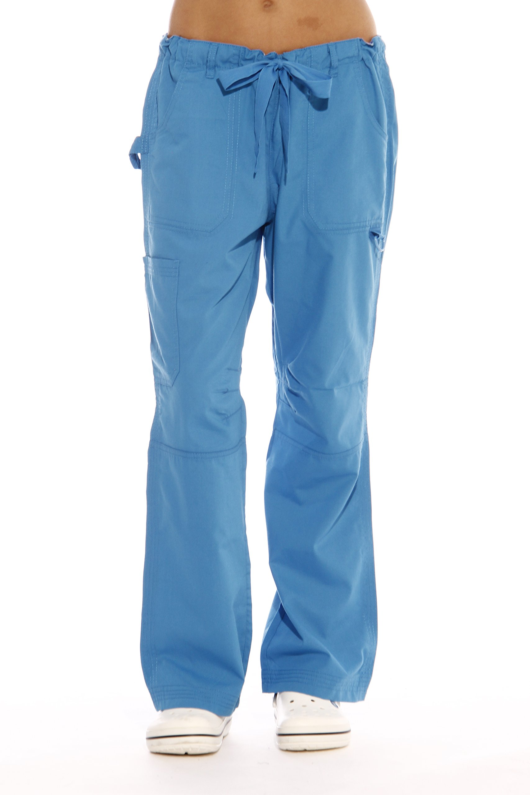 Just Love 24000PMALBLU-XL Women's Utility Scrub Pants Scrubs, Malibu Blue Utility, X-Large