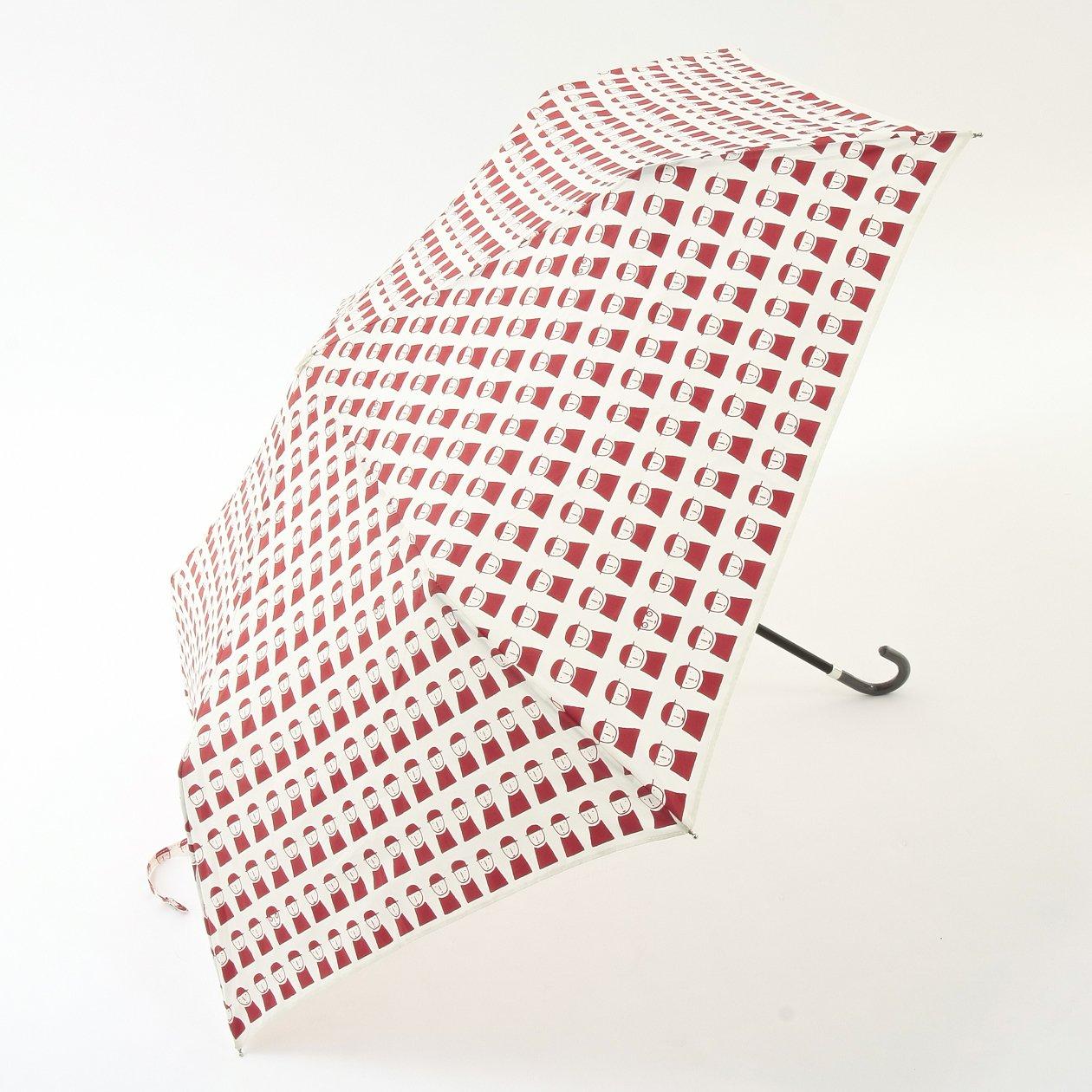 (ピッコーネ アッチェッソーリ) PICONE ACCESSORI 雨用折畳傘 50cm ポリエステル100% 連続司祭柄 683PI421 レッド B07DK4QWJWレッド