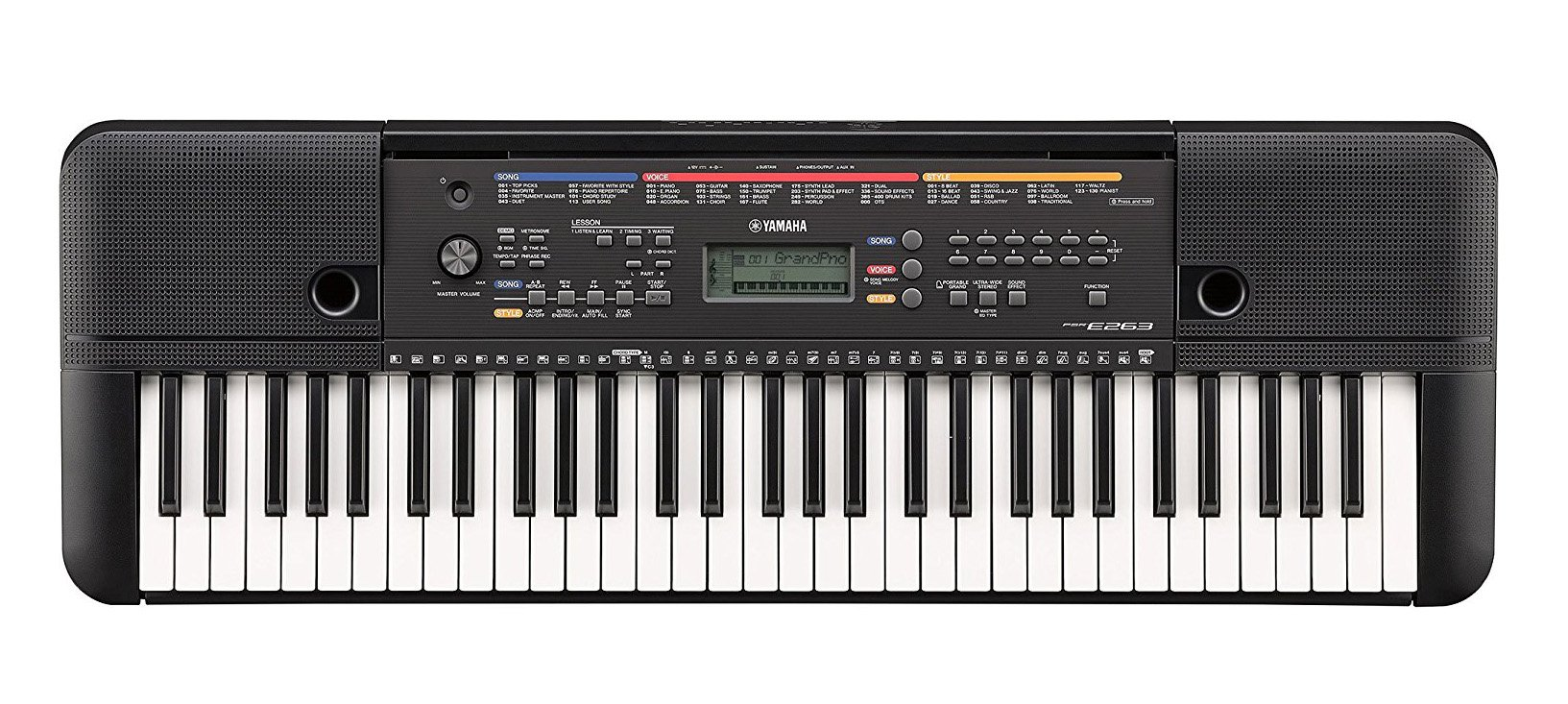 Yamaha PSRE263 61 Key Keyboard with Knox Bench, Stand, Studio Headphones, Survival Kit (Includes Power Adaptor) by YAMAHA (Image #2)
