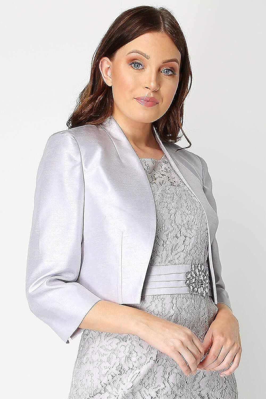 Style habill/é pour Occasions sp/éciales Veste Femme Courses hippiques ou Mariages Roman Originals Femmes Veste /à Bordures en Dentelle Fleurie