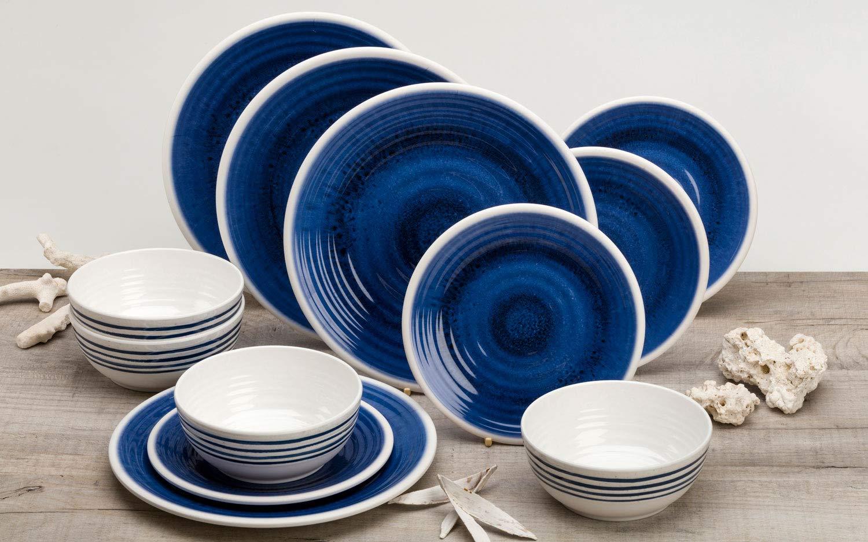 Flamefield Granite 12 Piece Melamine Tableware Dinner Picnic Set Caravan Camping