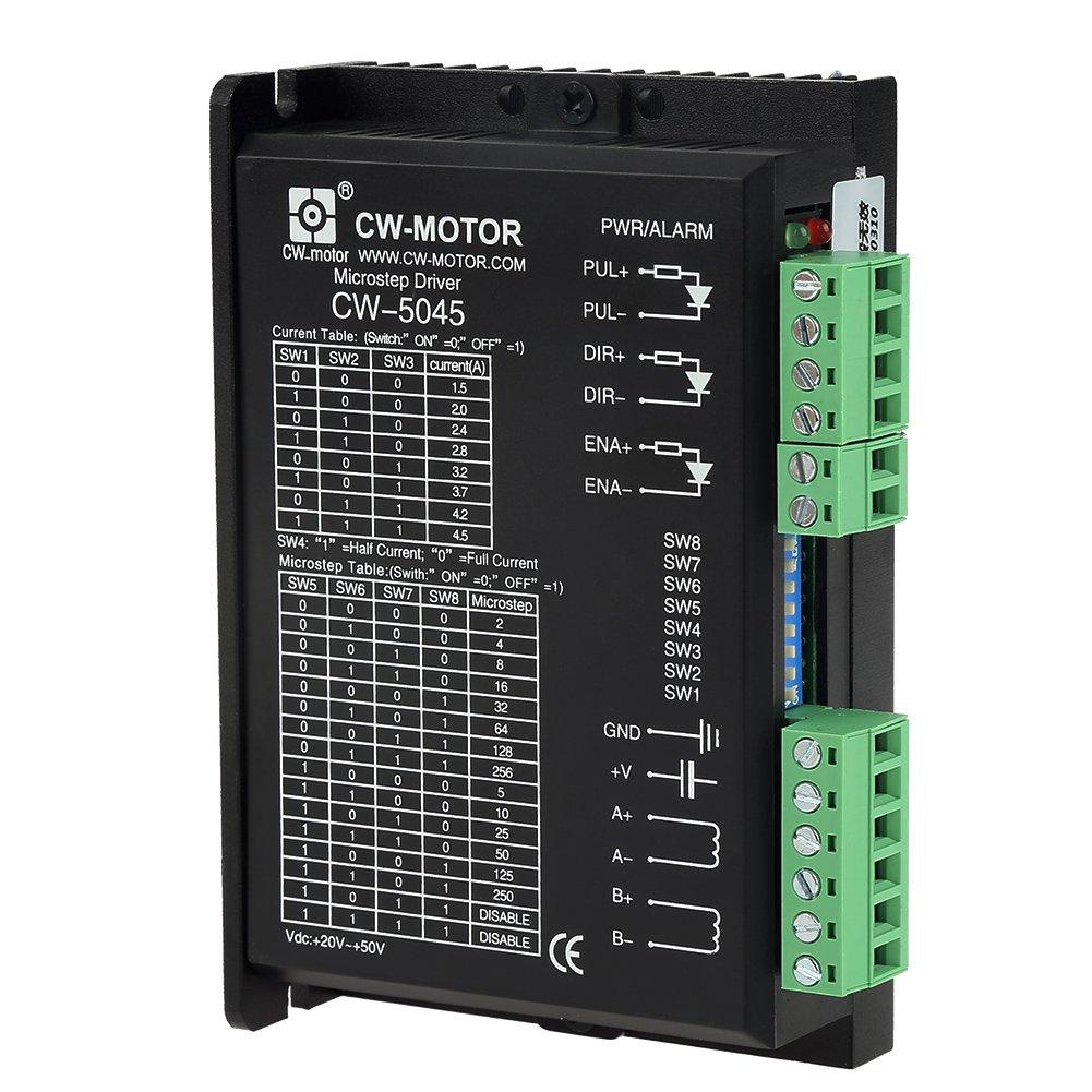 CW-5045 Driver Del Motore Passo-Passo 4.5A 24V-50V DC Per CNC Motori Ibridi