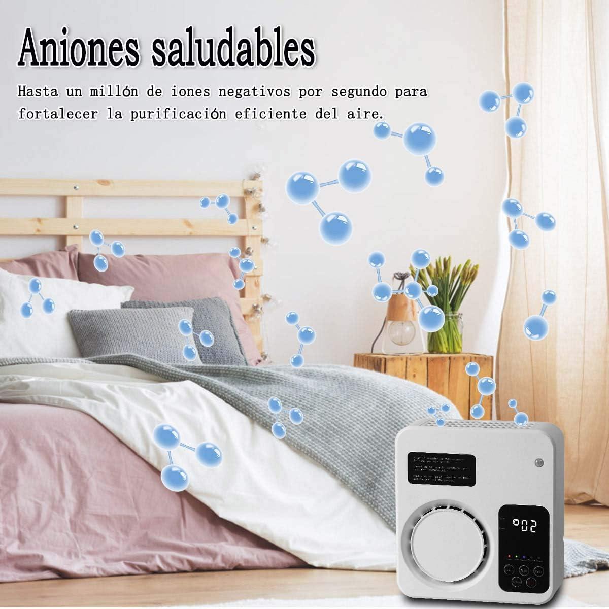 WANXIAN Purificatore daria Generatore di ozono Domestico Ionizzatore Aria Rimozione degli odori Deodorante per camera da letto Soggiorno Bagno Ufficio