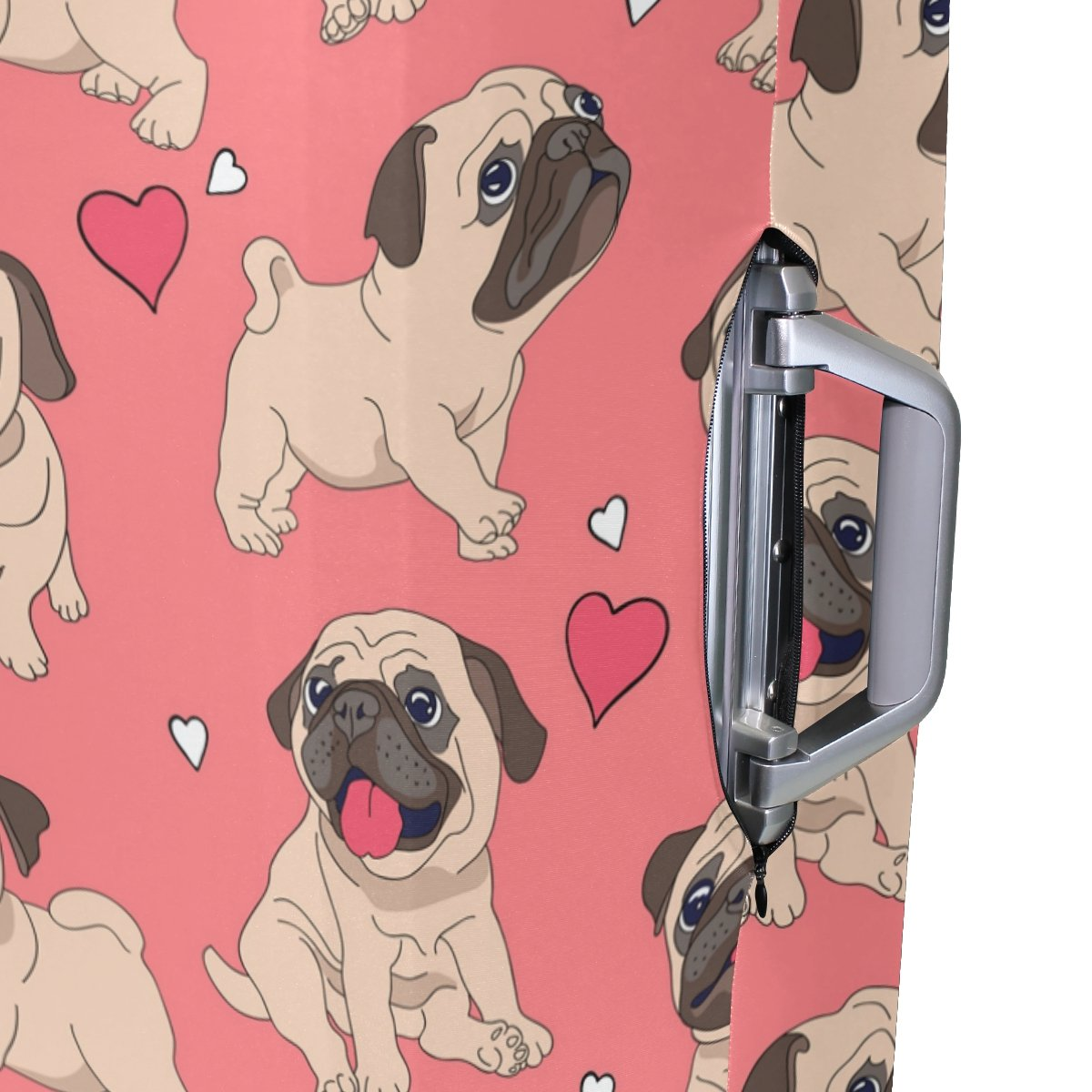 Cute Dog Puppy Love Heart Suitcase Luggage Cover Protector for Travel Kids Men Women by ALAZA (Image #4)