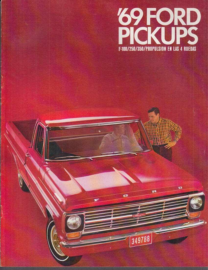 1969 Ford Pickup F-100 250 350 4WD Spanish-language brochure ...