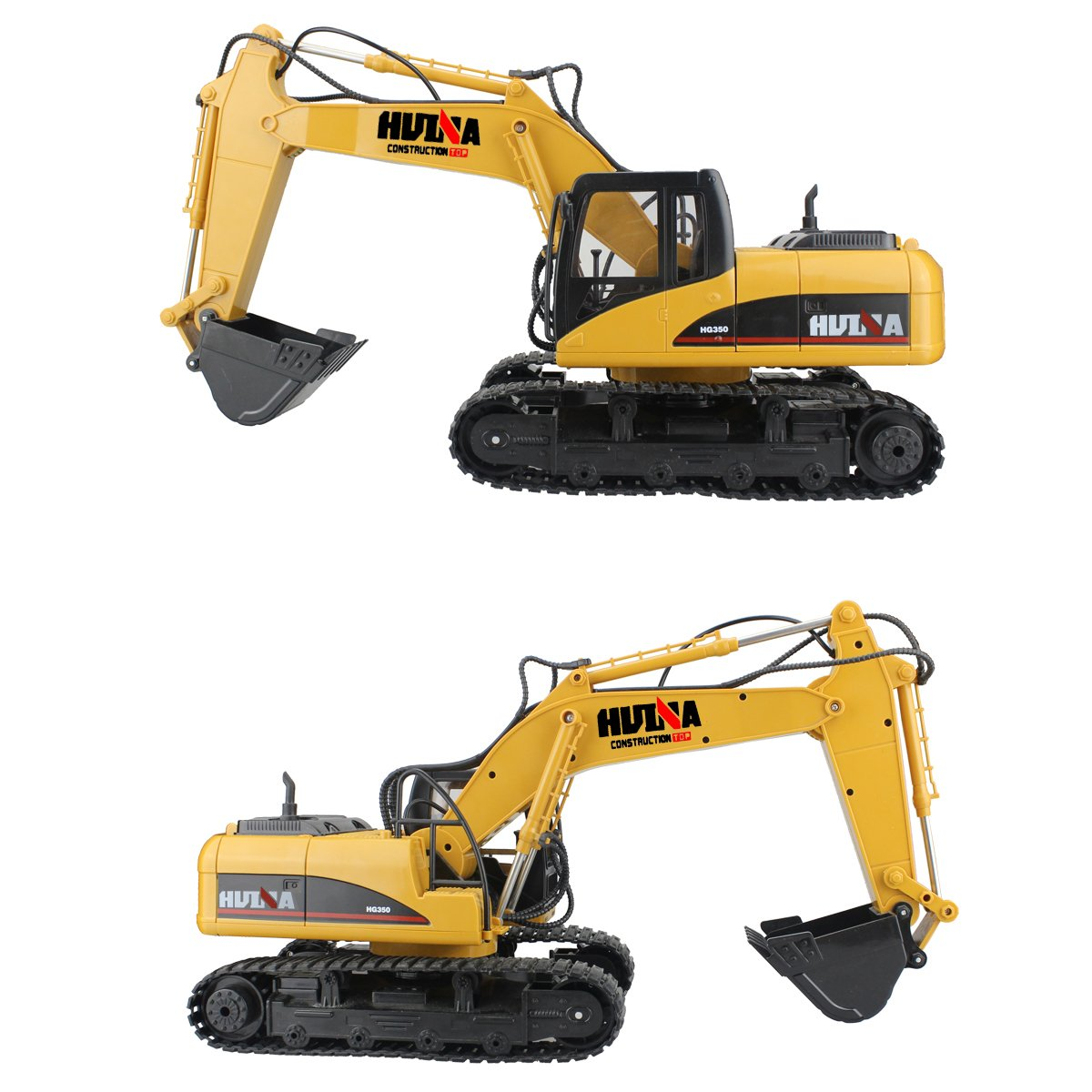 RC Truck Remote Control Excavator Crawler Tractor 15 Channel 2.4G Construction Vehicle Digger Electronics Hobby Toys with Simulation Sound and Flashing Lights by fisca (Image #3)