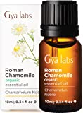 Gya Labs Organic Roman Chamomile Essential Oil - Great for Stress Relief & Sleep - Natural Moisturizer for Dry…