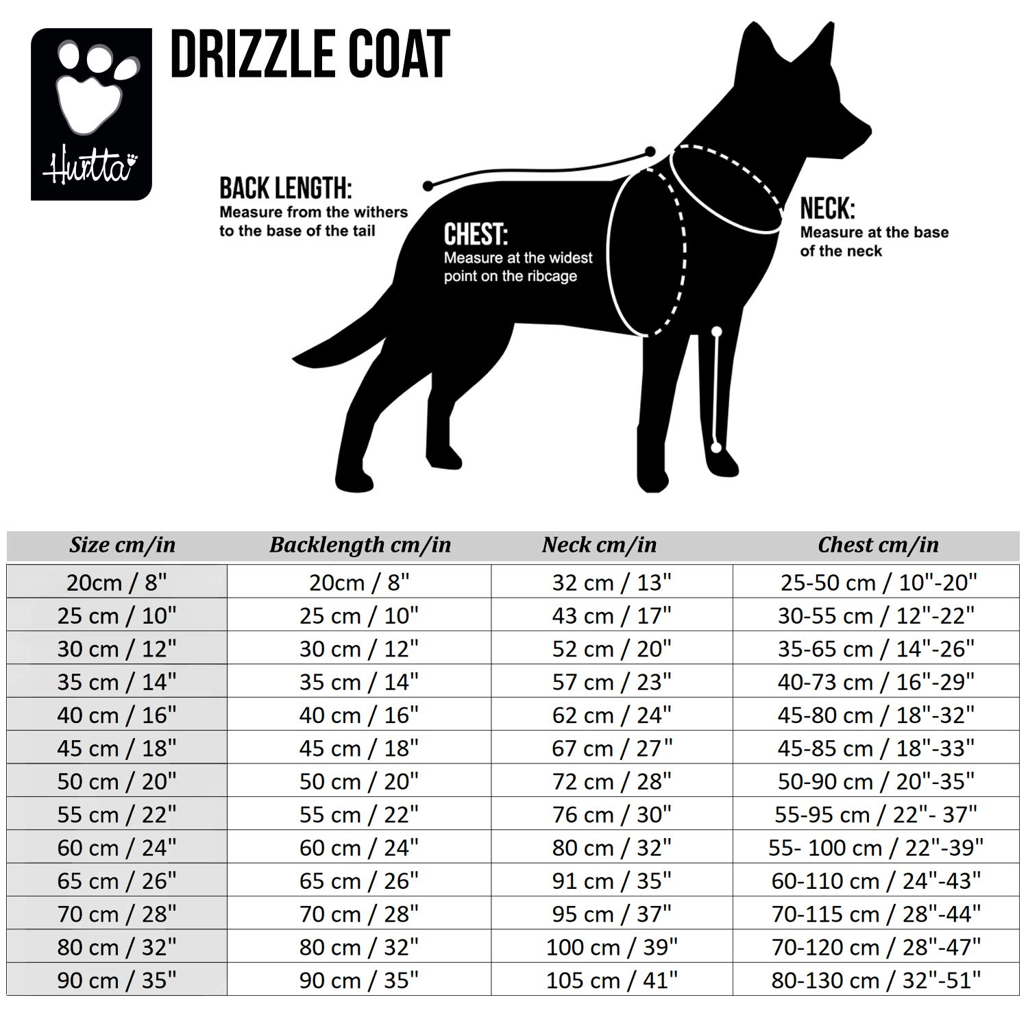 Hurtta Drizzle Coat, Dog Raincoat, Currant, 18 in by Hurtta (Image #6)