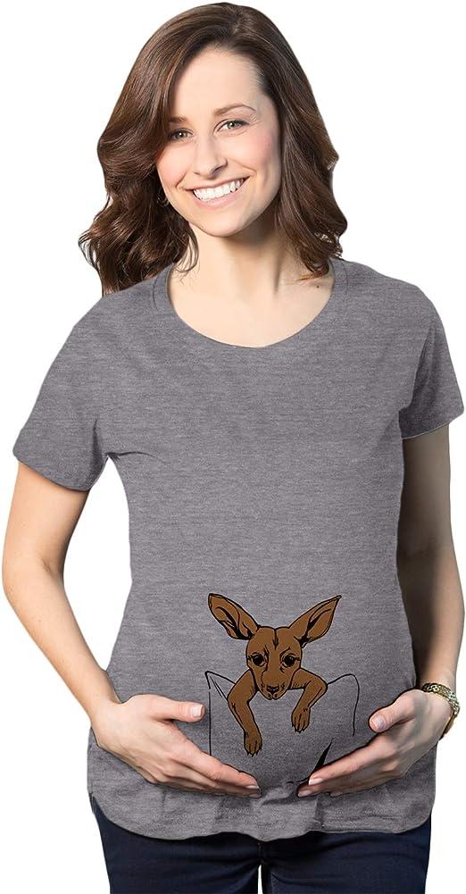 Maternity Peeking Kangaroo Tshirt Cute Pregnancy Tee
