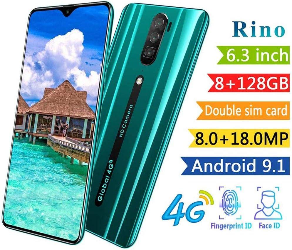 FLKENNEL Teléfonos móviles 2019, 6.3 '' Pantalla Gotas de Agua, 8MP + 18MP, 4800mAh batería económico Smartphone, teléfono de Doble SIM móvil, Android 9.1 Go