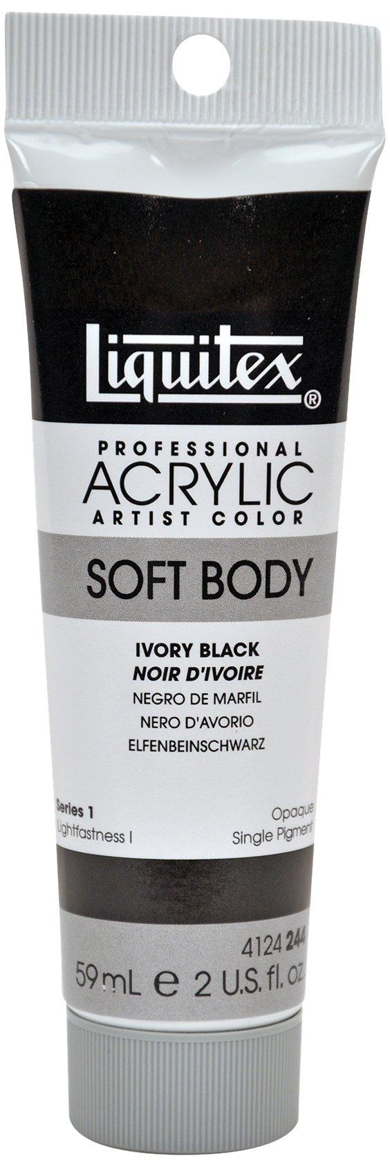 Liquitex Professional Soft Body Acrylic Paint 2-oz tube, Ivory Black