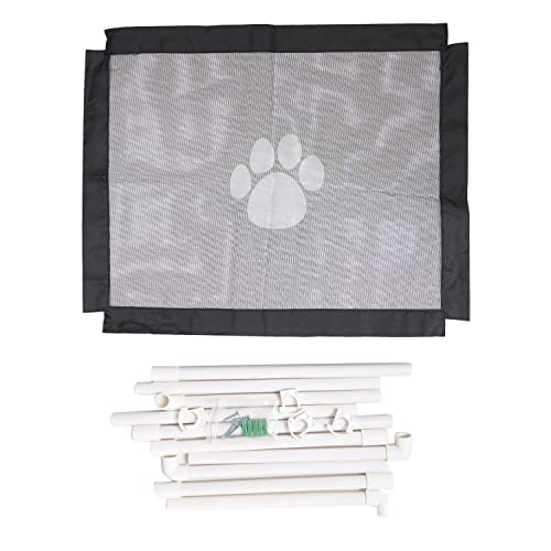YINASI Magic Gate for Dogs, Portable Folding Mesh Gates, Safe Guard for Pet House, Dog Gate for House Indoor Stair Doorway Use