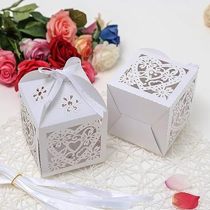 Scatoline Bomboniere Matrimonio.Ict 50 Scatoline Bomboniere Confezione Segnaposti Porta Confetti