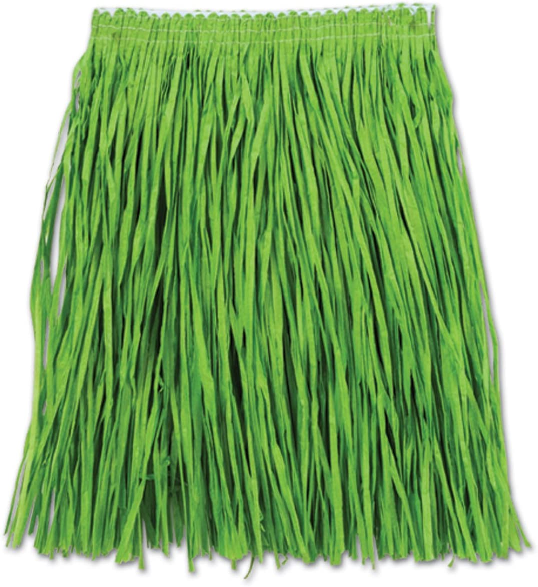 Beistle 54581-G Adult Mini Hula Skirt for Halloween Party, 36-Inch Width by 16-Inch Length