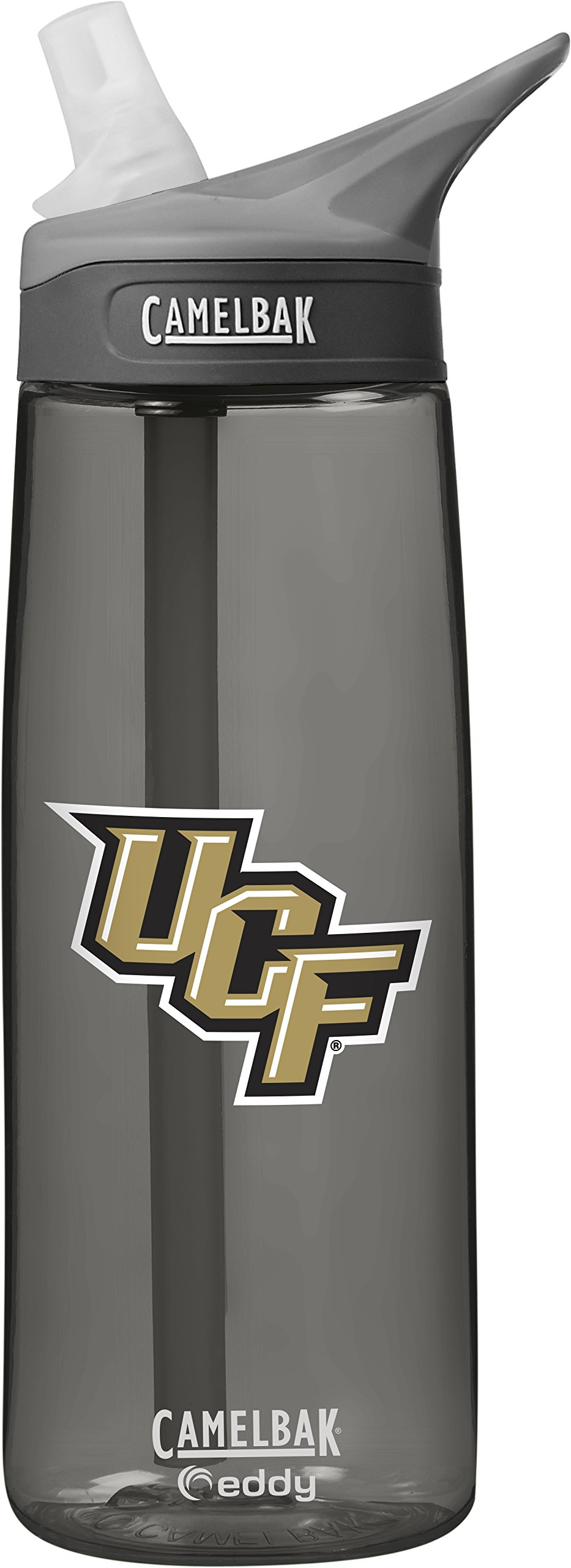 CamelBak NCAA Central Florida Golden Knights Unisex Eddy 75L Collegiate Water Bottle, Charcoal, 75 Liter