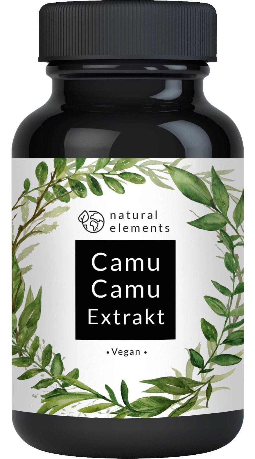 Der VERGLEICHSSIEGER 2018* Camu-Camu Kapseln - Natürliches Vitamin C - 120 vegane Kapseln im 4 Monatsvorrat - Ohne unerwünschte Zusätze – Laborgeprüft und hergestellt in Deutschland product image