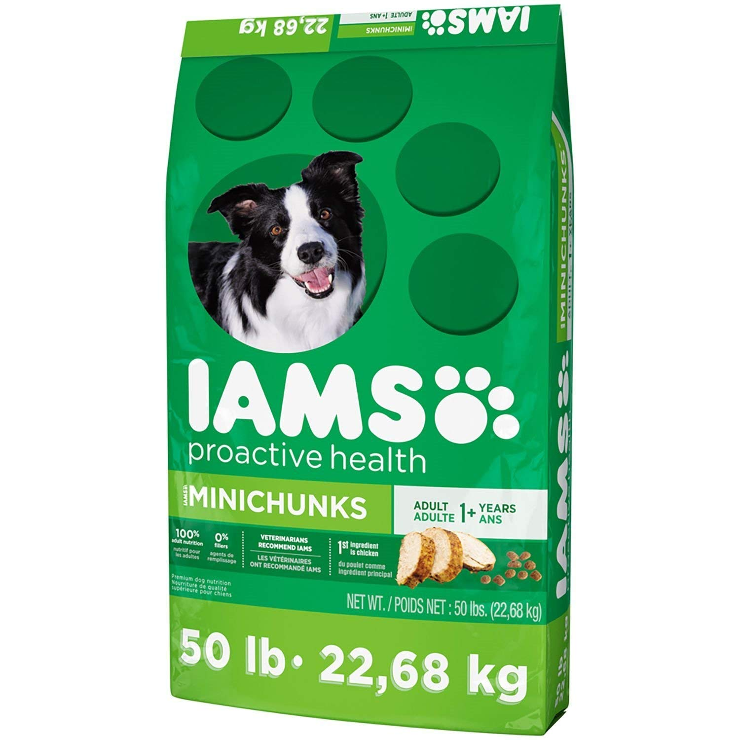 Iams ProActive Health Dog Food, Adult MiniChuncks 50 lbs.