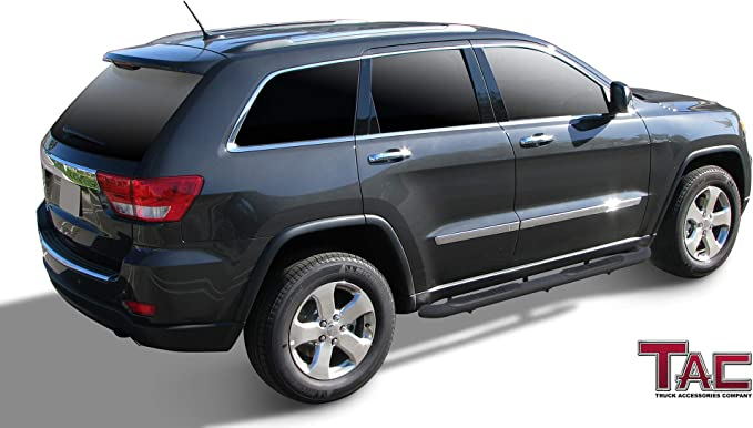 For 11-17 Jeep Grand Cherokee Nerf Bars Offroad Running Board Tubular Side Steps