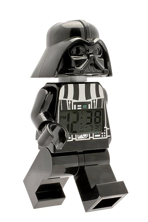 8583f2b71 Clic Time Lego Star Wars 9002113 Darth Vader Kids Minifigure Light Up Alarm  Clock | Black