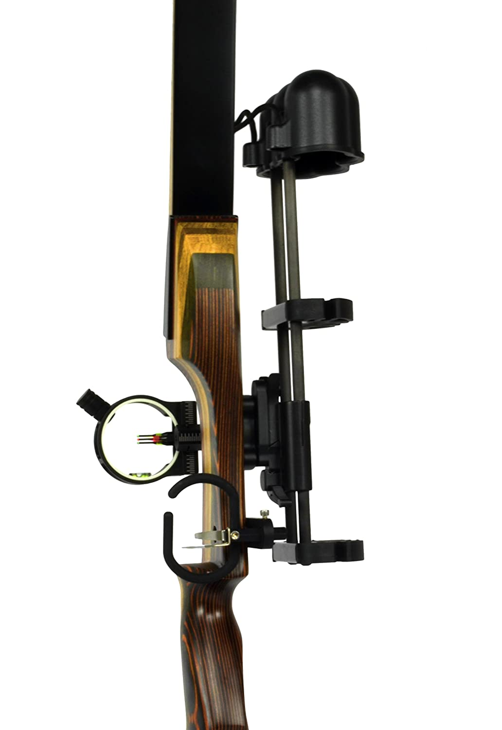 Universal Recurve Bow Hunting Kit - Includes 3 Pin sight with light, 5 arrow quick detach quiver & Premium arrow rest, designed for Samick Sage and Southwest Archery Spyder AAE; Truglo