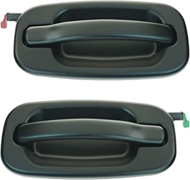 Amazon Com Smooth Black Rear Outside Door Handle Pair Set For Chevy Gmc Pickup Suv Automotive