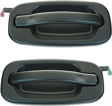 New Set of 4 Door Handles Front /& Rear Driver Passenger Side Smooth Black LH RH